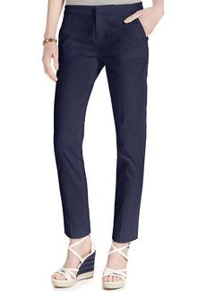 Tommy Hilfiger Textured Slim Ankle Pants