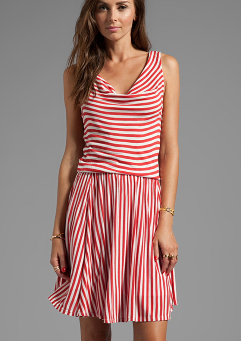 Ella Moss Gabi Stripe Dress in Red