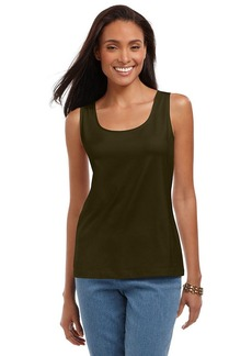 Charter Club Petite Top, Sleeveless Scoop Neck Tank