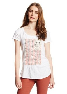 Lucky Brand Women's Embellished Flag Tee