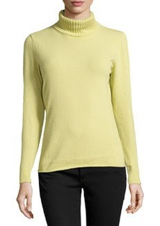 Lafayette 148 New York Cashmere-Blend Turtleneck Sweater, Sugarcane