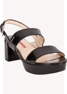 Prada Linea Rossa Double-Band Halter Platform Sandals