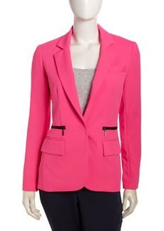 Nanette Lepore Superstar Zip-Pocket Blazer, Pink