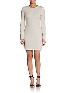 Diane von Furstenberg Long-Sleeve Ponte Sheath Dress