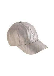 Metallic canvas baseball cap