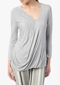 Three-Quarter Cowl Top in Grey