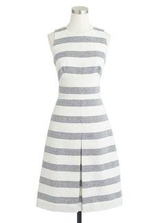 Stripe basket-weave dress