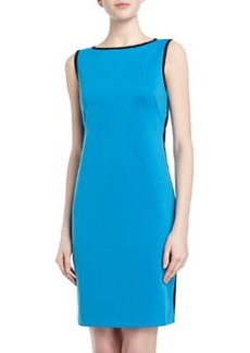 Isaac Mizrahi Sleeveless Open-Back Scuba Dress, Sky/Black