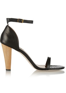 12th Street by Cynthia Vincent Mika lizard-effect leather sandals