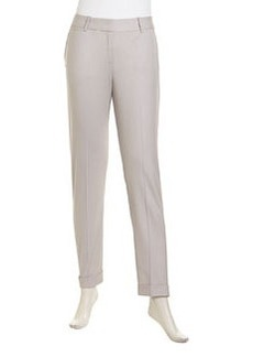 Lafayette 148 New York Slim Cuffed Pants, Mist
