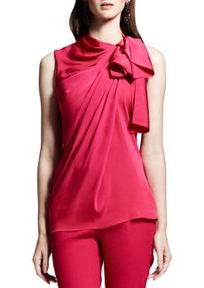 Lanvin Tie-Neck Sleeveless Blouse, Pink