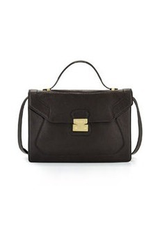 Foley + Corinna Attache Pebbled Leather Satchel, Black