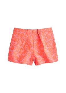 Tap short in neon coral jacquard