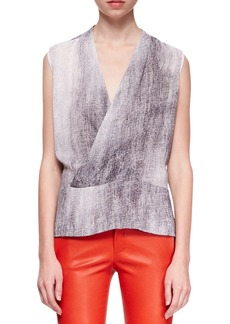 J Brand Ready to Wear Eugenie Monochromatic Crossover Blouse