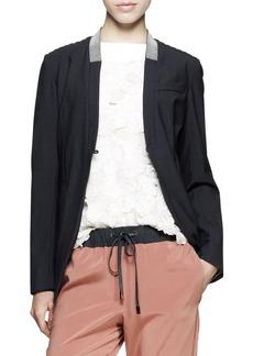 Brunello Cucinelli Monili-Collar Cutaway Jacket