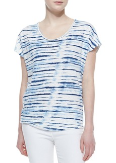 Soft Joie Diamond B Striped Slub Tee
