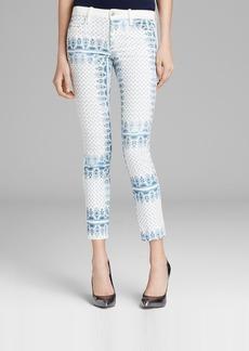Joe's Jeans - Blocked Scarf Stripe Skinny Ankle in White