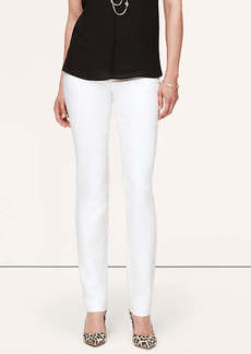 Tall Doubleweave Cotton Fitted Straight Leg Pants in Zoe Fit
