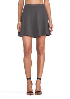 Velvet by Graham & Spencer Hydie French Terry Slub Skirt in Charcoal