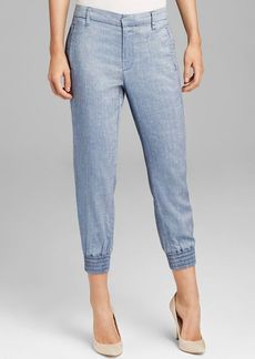 7 For All Mankind Pants - Drapey Sportif Chino in Light Blue Chambray