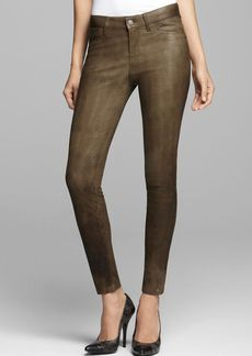J Brand Jeans - Leather Legging in Iron