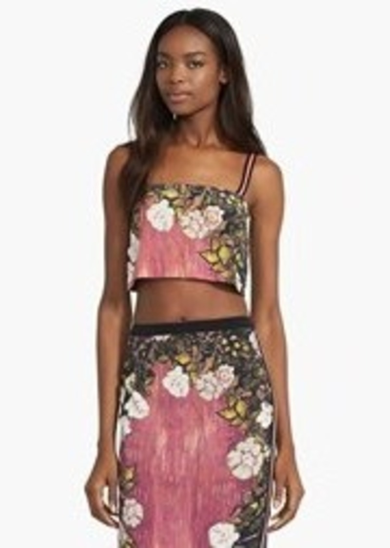 Tracy Reese Silk Crop Top