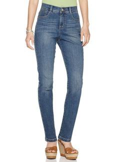 Style&co. Petite Jeans, Tummy Control Slim Leg, Faith Wash