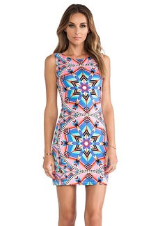 Mara Hoffman Modal Cutout Back Mini Dress in Pink
