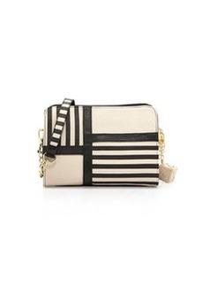 Betsey Johnson Nod to Mod Crossbody Bag, Black/Cream