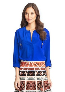 Danielle Silk Safari Blouse