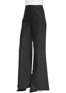 Lafayette 148 New York Lavish Linen Wide-Leg Bell-Bottom Pants