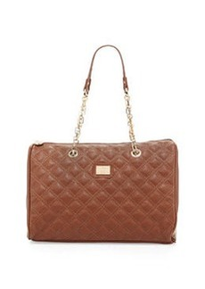 Christian Lacroix Lucile Quilted Faux Leather Duffel Bag, Brown
