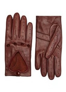 Leather Heart Driving Gloves