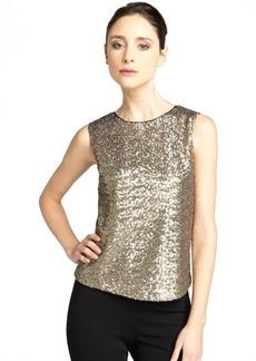 Tahari gold sequin 'Fiana' sleeveless blouse