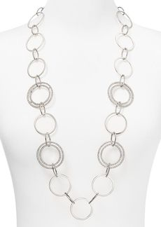 ABS by Allen Schwartz Modern Pave Link Necklace, 34""