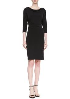 David Meister 3/4-Sleeve Jersey Dress