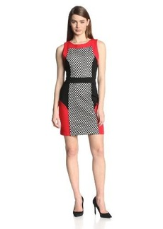 Kensie Women's Ponte Colorblock Dress