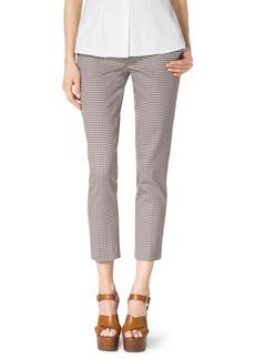 Michael Kors Check Stretch-Cotton Skinny Pants