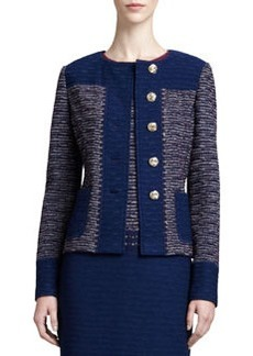 St. John Collection Textured Space Dyed Tweed Knit Jacket