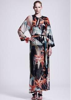 Lanvin Tropical-Print Caftan Maxi Dress