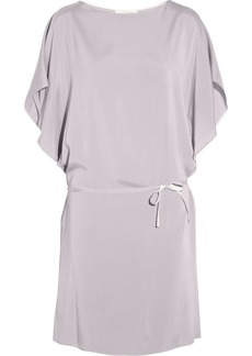 Chloé Silk-trimmed crepe dress