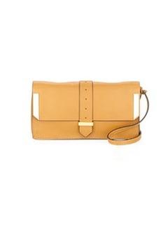Linea Pelle Astor Metal Embellished Clutch Bag, Dijon
