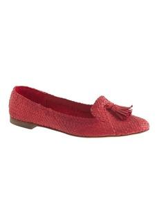 Cleo basket-weave loafers