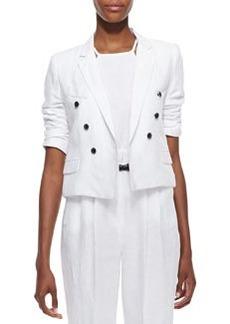 Cropped Sailor-Style Blazer   Cropped Sailor-Style Blazer