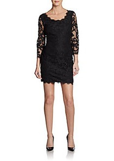 Diane von Furstenberg Zarita Mixed-Lace Dress