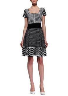 Catherine Malandrino Genevieve Cap-Sleeve Fit & Flare Dress