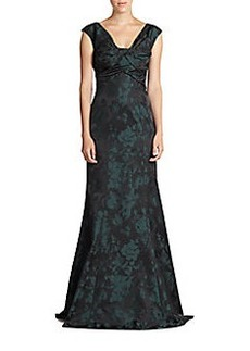 David Meister Sleeveless Taffeta Gown