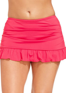 Kenneth Cole Reaction Plus Size Ruffled Swim Skirt