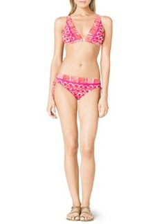 MICHAEL Michael Kors Mixed-Print Swim Top