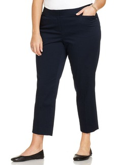 Jones New York Signature Plus Size Cropped Straight-Leg Pants